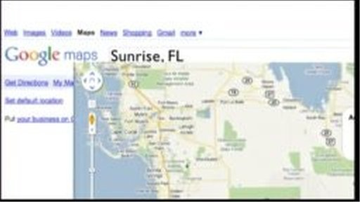 google map of sunrise