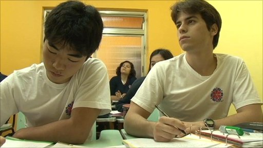 Brazilian school pupils
