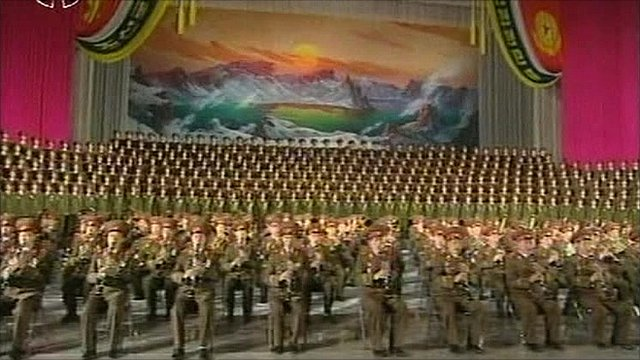 Ceremony in North Korea