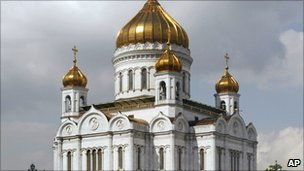 Moscow's Christ the Saviour cathedral, rebuilt from scratch under Yuri Luzhkov