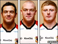 Crookes (l), Crossley (c) and Addy
