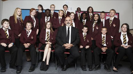 Professor Dylan Wiliam and 8HJ