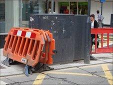 Building work in Newport city centre