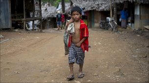 A Karen refugee boy in a camp on the Thai/Burma border