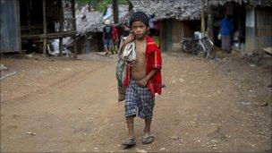 A Karen refugee boy in a camp on the Thai/Burma border