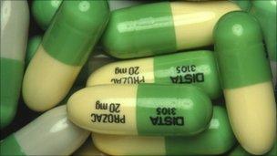 Prozac capsule