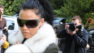 Katie Price arriving at court in Sussex in September