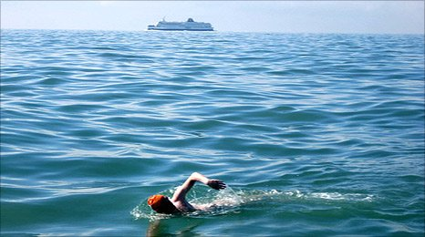 David Webster swam the English Channel in 13 hours and 15 minutes