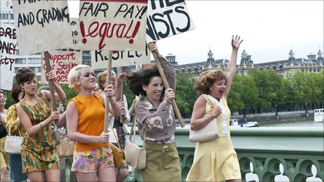 Made in Dagenham scene of Ford women