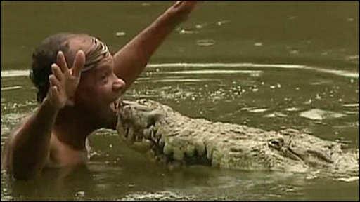 Fisherman Chito kisses crocodile Pocho