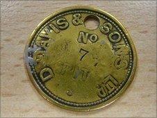 Coal miner's token