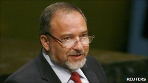 Israeli Foreign Minister Avigdor Lieberman speaking at the UN, 28 September