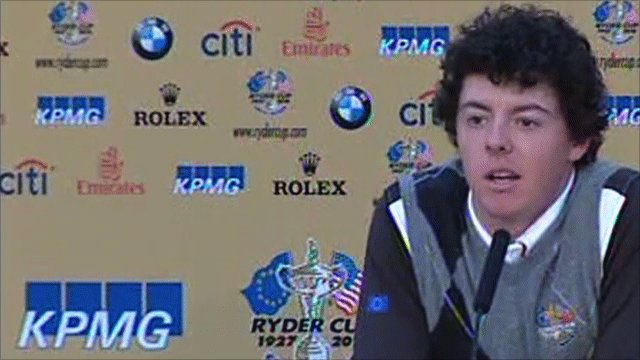 European Ryder Cup player Rory McIlroy