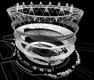 Axonometric view of the London Olympic stadium