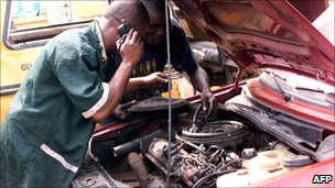 Nigerian mechanics in Lagos