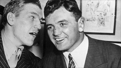 Tommy Farr (left) with James 'Cinderella Man' Braddock