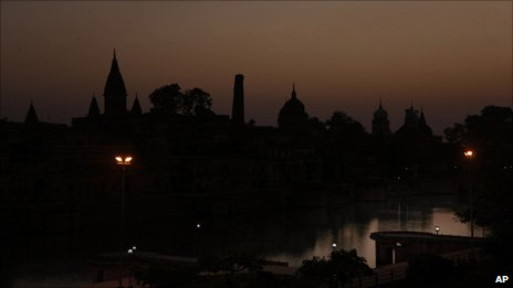 Ayodhya at night