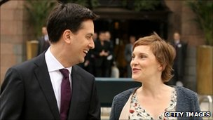 Ed Miliband and his partner Justine Thornton