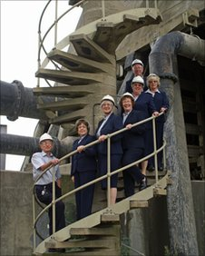 Staff at Didcot Power Station