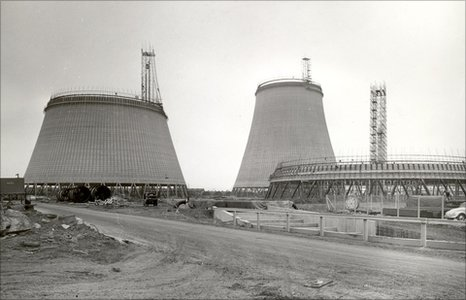 Didcot cooling tower construction