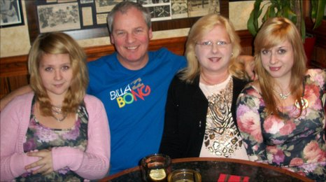 Diane Wright and family