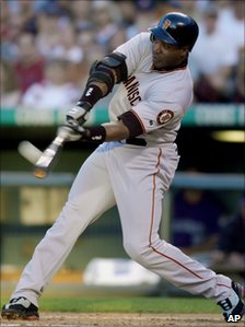 Baseball hitter Barry Bonds