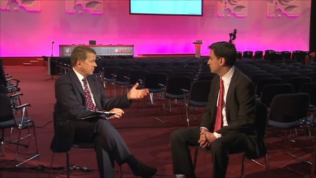 Bill Turnbull and Ed Miliband
