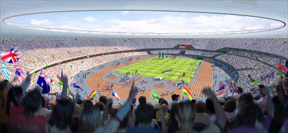 CGI of how the Olympic Park could look during the Games