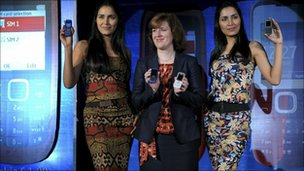 Models with Nokia phones