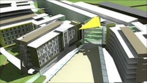 Artist's impression of new hospital