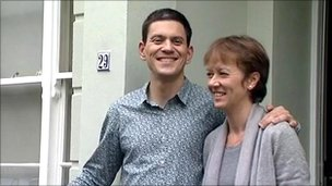 David Miliband and wife Louise