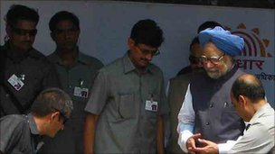 Manmohan Singh in Tembhli