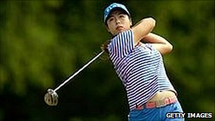 Chinese golfer Shanshan Feng of China in action