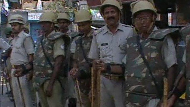 Police in Ayodhya