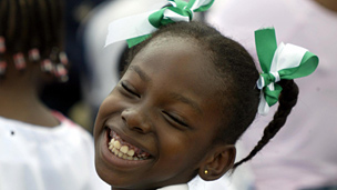 Nigerian girl at independence celebrations in 2004