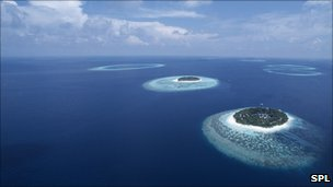 A view of the Maldives