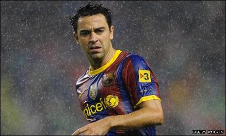 Barcelona midfielder Xavi