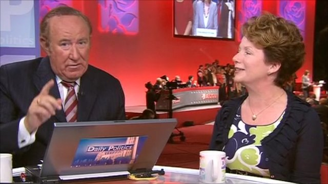 Andrew Neil and Hazel Blears