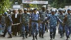 Muslim lawyers escorted by soldiers