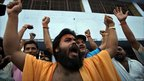 Hindu priest celebrates in Ayodhya