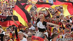 German fans at the 2006 World Cup in Germany