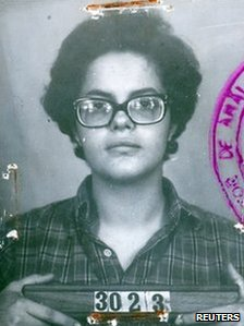 Police photo of Dilma Rousseff from the 1970s when she was in armed resistance to the military