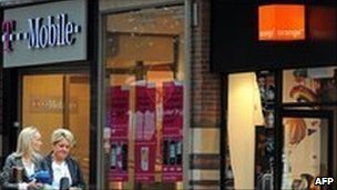 An Orange and T-Mobile shop in Liverpool