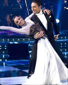 Flavia Cacace and Vincent Simone in Strictly Come Dancing