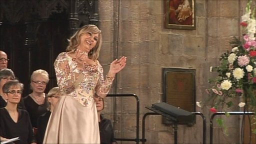 Lesley Garrett performing at St Botolph's church in Boston
