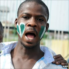 Nigerian football supporter