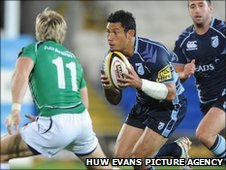 Casey Laulala scored a superb try for the Blues