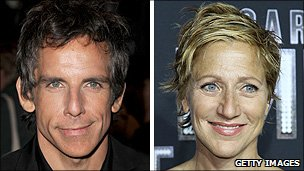 Ben Stiller and Edie Falco