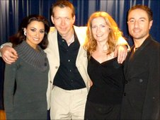 Sean A.McGee (centre left) with Strictly Come Dancing stars Flavia Cacace (left) and Vincent Simone (right) (Photo: Xavier Navarre and Sean A.McGee)