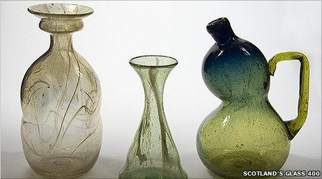 Clutha vases (Scotland's Glass 400)